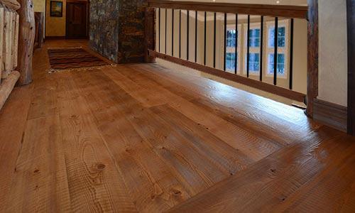 Montana Wood Flooring and Railing