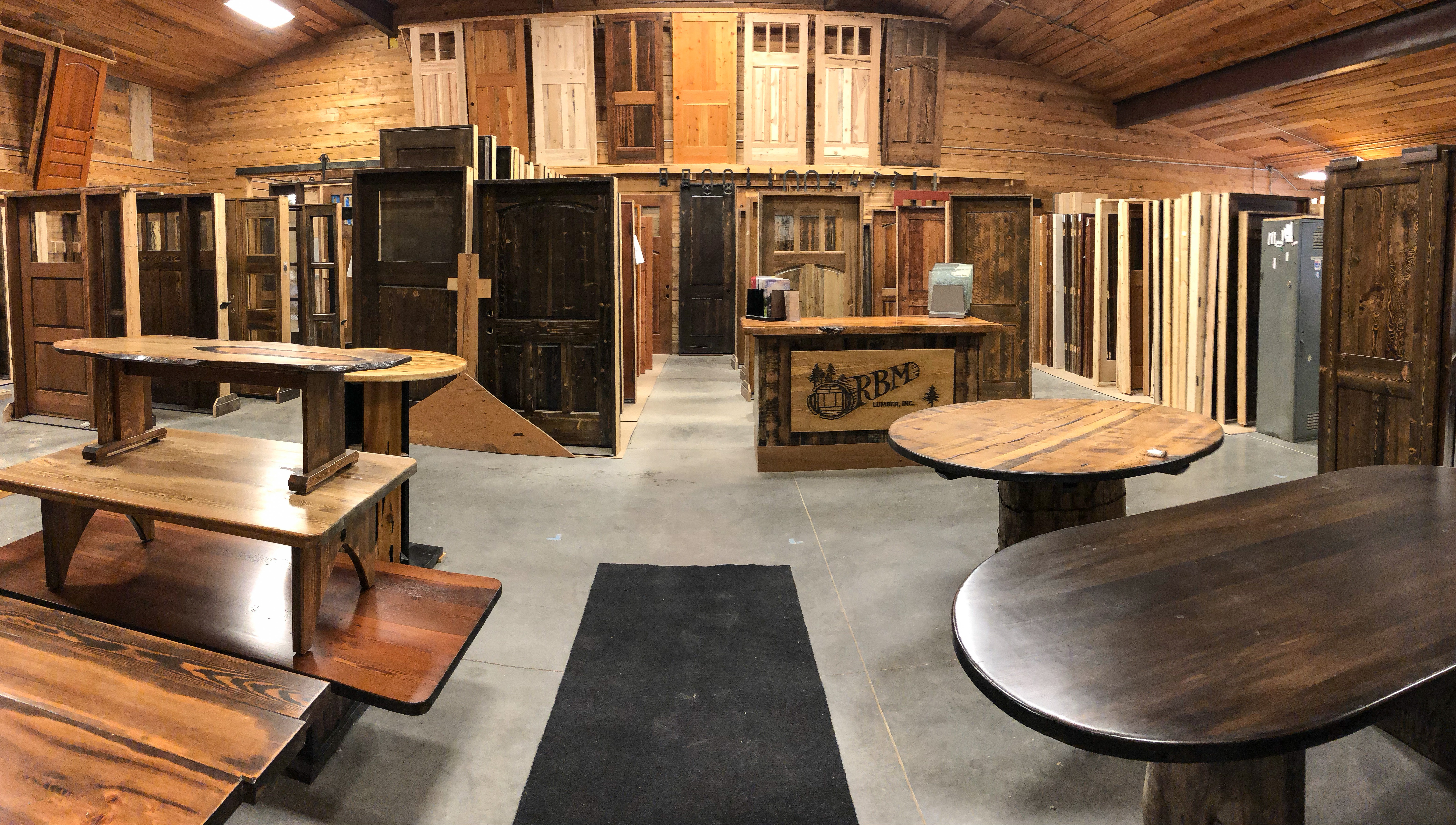 RBM Lumber Custom Doors Showroom